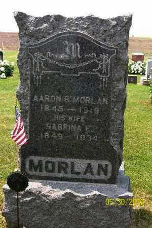 MORLAN, AARON B - Geary County, Kansas   AARON B MORLAN - Kansas Gravestone Photos