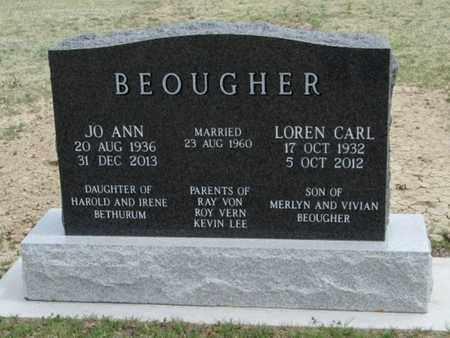 BEOUGHER, JO ANN - Gove County, Kansas | JO ANN BEOUGHER - Kansas Gravestone Photos