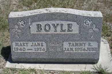 BOYLE, MARY JANE - Gove County, Kansas | MARY JANE BOYLE - Kansas Gravestone Photos