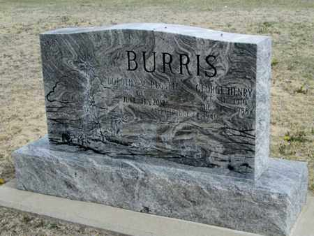 RUSSELL BURRIS, DOROTHY MAY - Gove County, Kansas | DOROTHY MAY RUSSELL BURRIS - Kansas Gravestone Photos