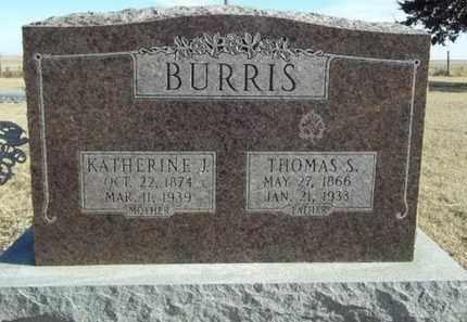 BURRIS, KATHERINE - Gove County, Kansas | KATHERINE BURRIS - Kansas Gravestone Photos