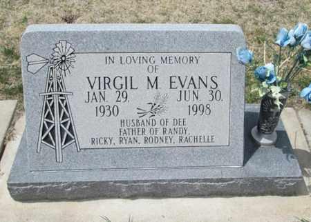 EVANS, VIRGIL M - Gove County, Kansas   VIRGIL M EVANS - Kansas Gravestone Photos