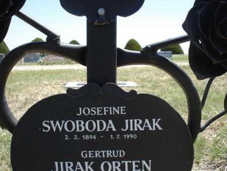SWOBODA JIRAK, JOSEFINE - Gove County, Kansas | JOSEFINE SWOBODA JIRAK - Kansas Gravestone Photos