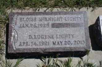 LIGHTY, D  EUGENE - Gove County, Kansas   D  EUGENE LIGHTY - Kansas Gravestone Photos