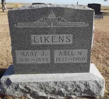 LIKENS, ABEL - Gove County, Kansas | ABEL LIKENS - Kansas Gravestone Photos