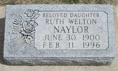 WELTON NAYLOR, RUTH - Gove County, Kansas | RUTH WELTON NAYLOR - Kansas Gravestone Photos