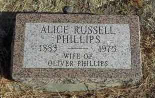 RUSSELL PHILLIPS, ALICE - Gove County, Kansas | ALICE RUSSELL PHILLIPS - Kansas Gravestone Photos
