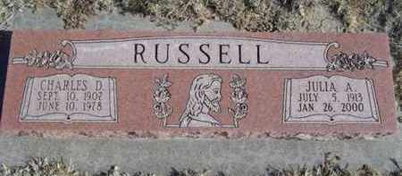 RUSSELL, CHARLES D - Gove County, Kansas | CHARLES D RUSSELL - Kansas Gravestone Photos