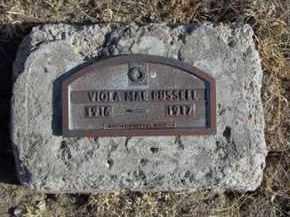 RUSSELL, VIOLA MAE - Gove County, Kansas   VIOLA MAE RUSSELL - Kansas Gravestone Photos