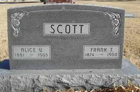 SCOTT, ALICE V - Gove County, Kansas | ALICE V SCOTT - Kansas Gravestone Photos