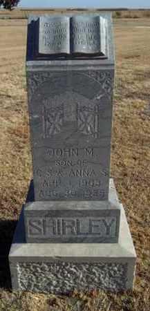 SHIRLEY, JOHN M - Gove County, Kansas | JOHN M SHIRLEY - Kansas Gravestone Photos
