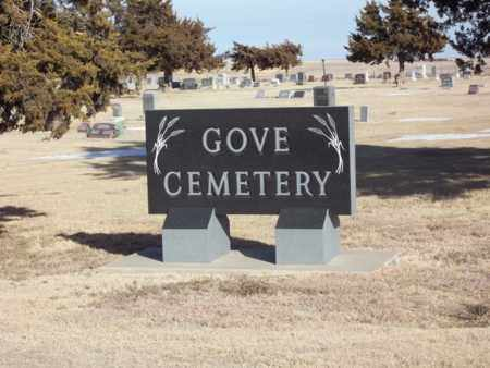 *GOVE CEMETERY SIGN,  - Gove County, Kansas    *GOVE CEMETERY SIGN - Kansas Gravestone Photos