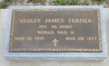 TURNER, WESLEY JAMES  (VETERAN WWII) - Gove County, Kansas | WESLEY JAMES  (VETERAN WWII) TURNER - Kansas Gravestone Photos