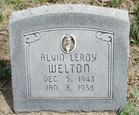 WELTON, ALVIN LEROY - Gove County, Kansas | ALVIN LEROY WELTON - Kansas Gravestone Photos