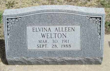 TURNER WELTON, ELVINA ALLEEN - Gove County, Kansas | ELVINA ALLEEN TURNER WELTON - Kansas Gravestone Photos