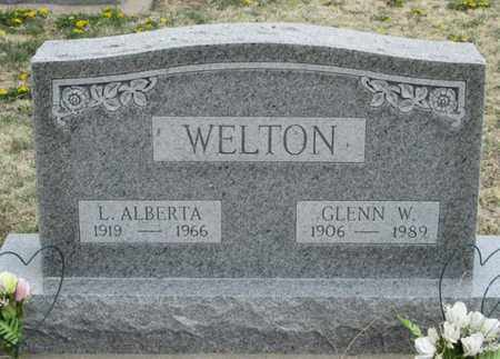 SUMMERS WELTON, L ALBERTA - Gove County, Kansas | L ALBERTA SUMMERS WELTON - Kansas Gravestone Photos