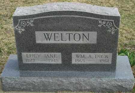 "WELTON, WILLIAM ALVIN ""DICK"" - Gove County, Kansas | WILLIAM ALVIN ""DICK"" WELTON - Kansas Gravestone Photos"