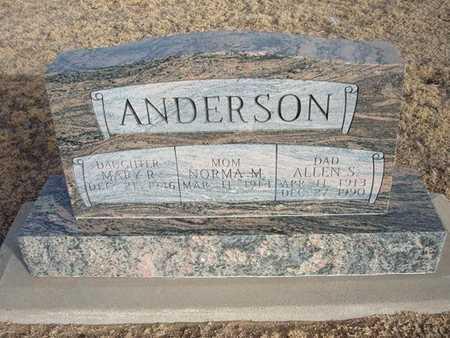NICHOLS ANDERSON, NORMA M - Grant County, Kansas | NORMA M NICHOLS ANDERSON - Kansas Gravestone Photos
