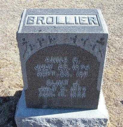 BROLLIER, ANNA CATHERINE - Grant County, Kansas | ANNA CATHERINE BROLLIER - Kansas Gravestone Photos