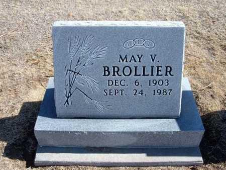 BROLLIER, MARY V - Grant County, Kansas   MARY V BROLLIER - Kansas Gravestone Photos
