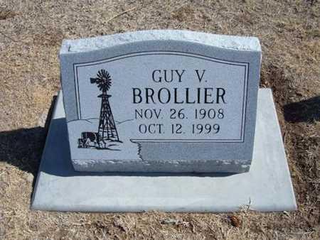 BROLLIER, GUY V - Grant County, Kansas | GUY V BROLLIER - Kansas Gravestone Photos