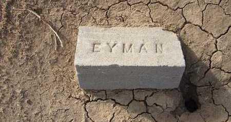 EYMAN, CHILD - Grant County, Kansas | CHILD EYMAN - Kansas Gravestone Photos