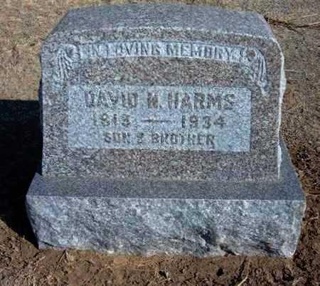 HARMS, DAVID N - Grant County, Kansas | DAVID N HARMS - Kansas Gravestone Photos