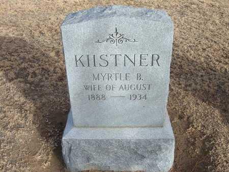 KIISTNER, MYRTLE B - Grant County, Kansas | MYRTLE B KIISTNER - Kansas Gravestone Photos