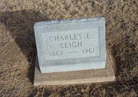 LEIGH, CHARLES E - Grant County, Kansas | CHARLES E LEIGH - Kansas Gravestone Photos