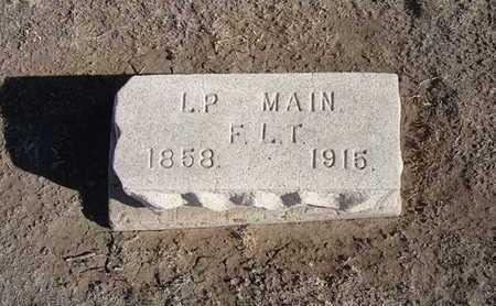 MAIN, L P - Grant County, Kansas | L P MAIN - Kansas Gravestone Photos