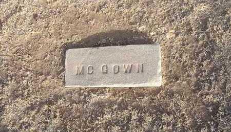 MCGOWN, UNKNOWN - Grant County, Kansas   UNKNOWN MCGOWN - Kansas Gravestone Photos