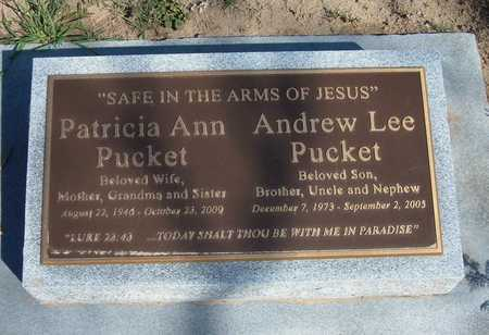 PUCKET, PATRICIA ANN - Grant County, Kansas | PATRICIA ANN PUCKET - Kansas Gravestone Photos