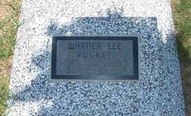 PUCKET, WARREN LEE - Grant County, Kansas | WARREN LEE PUCKET - Kansas Gravestone Photos