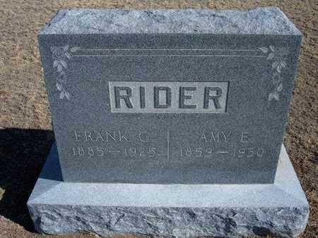 RIDER, FRANK G - Grant County, Kansas | FRANK G RIDER - Kansas Gravestone Photos
