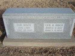 RIDER, GEORGE RALPH, SR - Grant County, Kansas | GEORGE RALPH, SR RIDER - Kansas Gravestone Photos