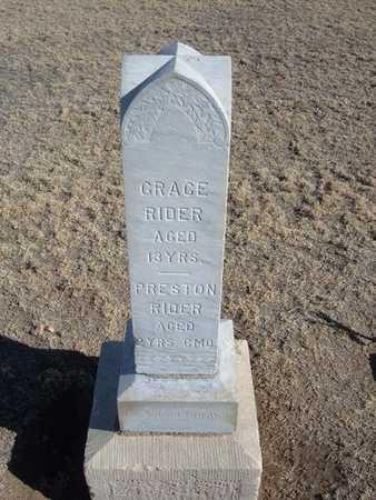 RIDER, GRACE - Grant County, Kansas | GRACE RIDER - Kansas Gravestone Photos