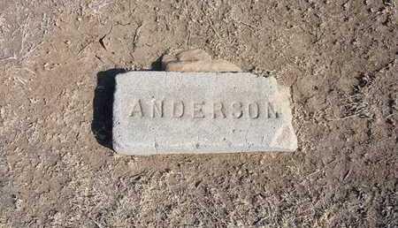 ANDERSON, UNKNOWN - Grant County, Kansas | UNKNOWN ANDERSON - Kansas Gravestone Photos