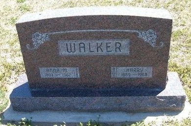 WALKER, ANNA MYRTLE JOHANNA - Grant County, Kansas | ANNA MYRTLE JOHANNA WALKER - Kansas Gravestone Photos