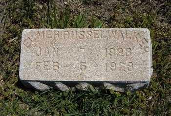 WALKER, ELMER RUSSELL - Grant County, Kansas | ELMER RUSSELL WALKER - Kansas Gravestone Photos