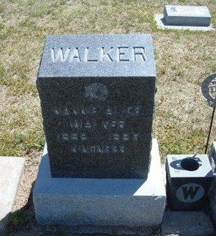 WALKER, NANNIE ALICE - Grant County, Kansas | NANNIE ALICE WALKER - Kansas Gravestone Photos
