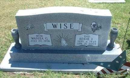 WISE, EDDIE LEWIS - Grant County, Kansas | EDDIE LEWIS WISE - Kansas Gravestone Photos