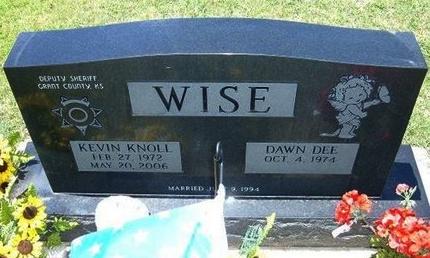WISE, KEVIN KNOLL - Grant County, Kansas   KEVIN KNOLL WISE - Kansas Gravestone Photos