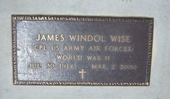 WISE, JAMES WINDOL   (VETERAN WWII) - Grant County, Kansas | JAMES WINDOL   (VETERAN WWII) WISE - Kansas Gravestone Photos
