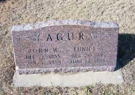 AGUR, EUNICE S - Gray County, Kansas   EUNICE S AGUR - Kansas Gravestone Photos