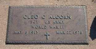 ALCORN, CLEO C  (VETERAN WWII) - Gray County, Kansas | CLEO C  (VETERAN WWII) ALCORN - Kansas Gravestone Photos