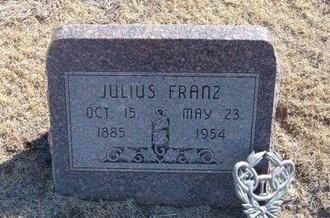 FRANZ, JULIUS - Gray County, Kansas   JULIUS FRANZ - Kansas Gravestone Photos