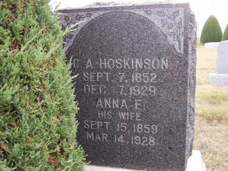 THOMPSON HOSKINSON, ANNA ELIZABETH - Gray County, Kansas | ANNA ELIZABETH THOMPSON HOSKINSON - Kansas Gravestone Photos
