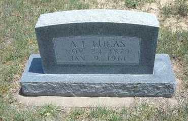 LUCAS, A. L. - Gray County, Kansas   A. L. LUCAS - Kansas Gravestone Photos