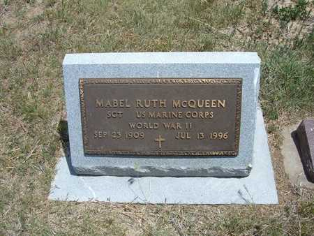 MCQUEEN, MABEL RUTH  (VETERAN WWII) - Gray County, Kansas | MABEL RUTH  (VETERAN WWII) MCQUEEN - Kansas Gravestone Photos