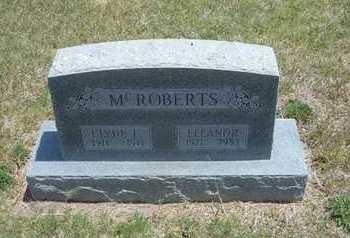 MCROBERTS, ELEANOR - Gray County, Kansas | ELEANOR MCROBERTS - Kansas Gravestone Photos